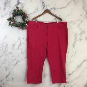 NYDJ Marilyn Crop Jeans in Dark Poppy Red